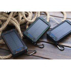 Sinofer Power Bank 2 USB Port 10000mAh + Solar Panel + Kompas - SP-21 - Black - 3