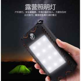 Sinofer Power Bank 2 USB Port 10000mAh + Solar Panel + Kompas - SP-21 - Black - 5