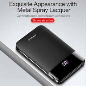 CAFELE Power Bank LED Indicator 5200mah with Built-in Micro USB Cable - Black - 4