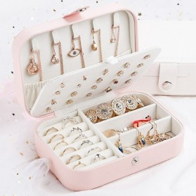 La Maxza Kotak Penyimpanan Perhiasan Organizer Jewelry Display Box - sp01161 - Pink