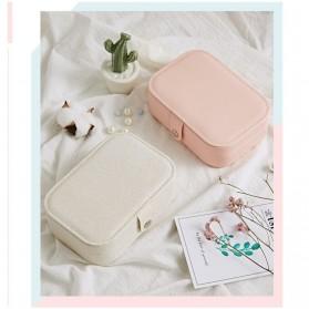 La Maxza Kotak Penyimpanan Perhiasan Organizer Jewelry Display Box - sp01161 - Pink - 5