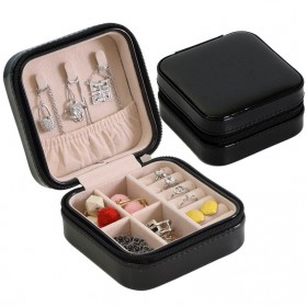 YiCleaner Kotak Penyimpanan Perhiasan Organizer Jewelry Display Box - AEHZ0016 - Black