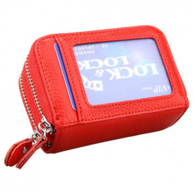 AUSPICIOUS Dompet Kartu Anti RFID Block Wallet Secure - WA727 - Red