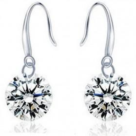 Diamond Earrings 925 Sterling Silver / Anting Wanita - White