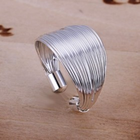 Silver Plated Fashion Ring 925 Sterling Silver / Cincin Wanita - White