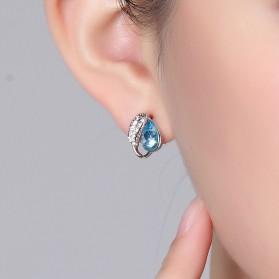 Acacia Leaves Crystal Earrings 925 Sterling Silver / Anting Wanita - Rose - 3