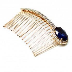 Crystal Plug Diamond Comb / Sisir Wanita - Blue