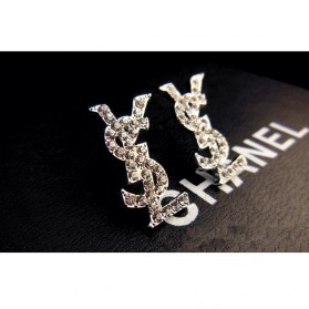 Full Diamond Stud Earrings / Anting Wanita - Golden