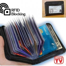 Block Wallet Dompet Kartu Kredit Secure RFID Blocking - 789522 - Black - 2