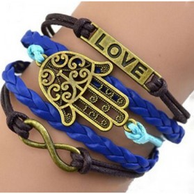 Gelang Vintage Love Hands Charm Bracelet Bangle Women - W3 - Multi-Color