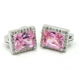 Anting Wanita Cube Zircon - Pink