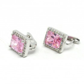 Anting Wanita Cube Zircon - Pink - 2