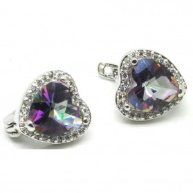 Anting Wanita Heart Zircon - Multi-Color - 1