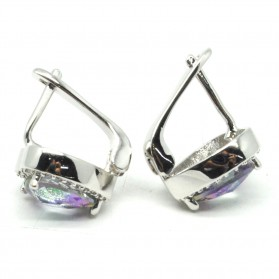 Anting Wanita Heart Zircon - Multi-Color - 3