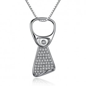 Kalung Wanita Platinum Crystal - Silver