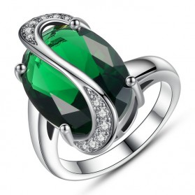 Cincin Wanita Oval Size 7 - Green