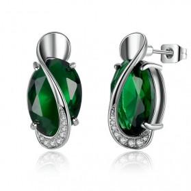 Kalung Anting Cincin Wanita Opal - Green - 3