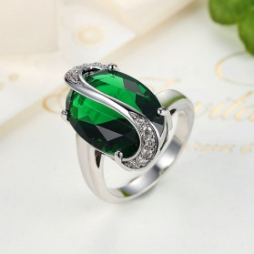 Kalung Anting Cincin Wanita Opal - Green - 4