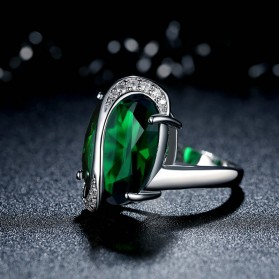 Kalung Anting Cincin Wanita Opal - Green - 5