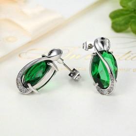 Kalung Anting Cincin Wanita Opal - Green - 7