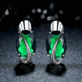 Kalung Anting Cincin Wanita Opal - Green - 8