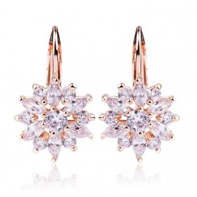 Anting Wanita Zircon Gold - Champagne Gold