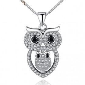 Kalung Wanita Vintage Owl - Silver