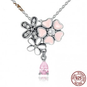 Kalung Wanita Cherry Blossom - Pink