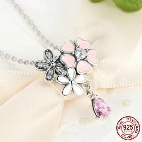 Kalung Wanita Cherry Blossom - Pink - 2