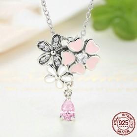 Kalung Wanita Cherry Blossom - Pink - 3