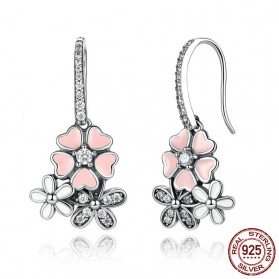 Anting Wanita Cherry Blossom - Pink