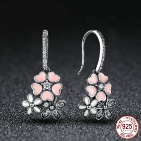 Anting Wanita Cherry Blossom - Pink - 2