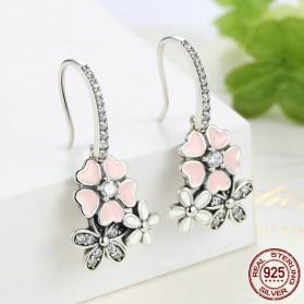 Anting Wanita Cherry Blossom - Pink - 3