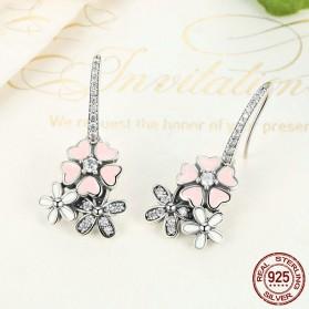 Anting Wanita Cherry Blossom - Pink - 4