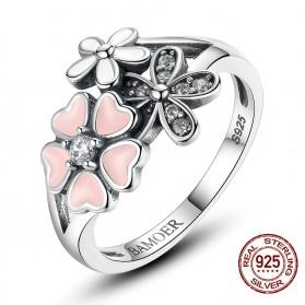 Cincin Wanita Cherry Blossom Size 6 - Pink