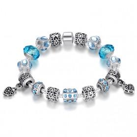 Gelang Wanita Crystal Bead - Blue
