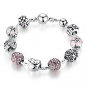 Gelang Wanita Love Bead - Pink