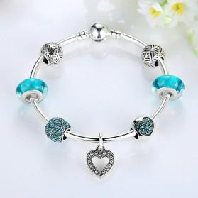 Gelang Wanita Vintage Bead - Blue - 2