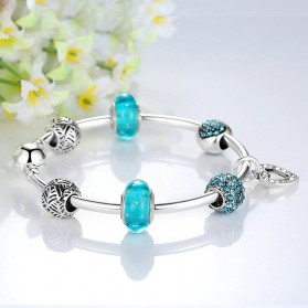 Gelang Wanita Vintage Bead - Blue - 3