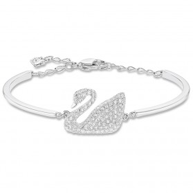 Gelang Wanita Swan Crystal - Silver