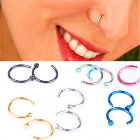 Perhiasan - Anting Hidung Jepit Tanpa Tindik 10PCS - Golden