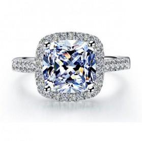 Cincin Wanita Shiny Jewel Size 8 - Silver - 2