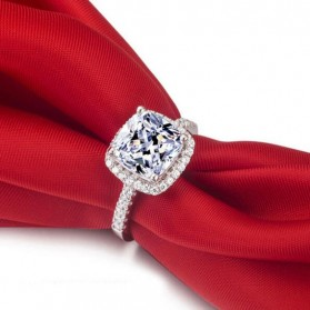 Cincin Wanita Shiny Jewel Size 8 - Silver - 3