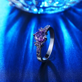 Cincin Wanita Purple Jewel Size 7 - Purple - 3
