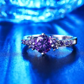 Cincin Wanita Purple Jewel Size 7 - Purple - 4