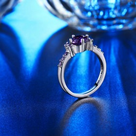 Cincin Wanita Purple Jewel Size 7 - Purple - 5