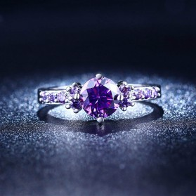 Cincin Wanita Purple Jewel Size 8 - Purple - 2