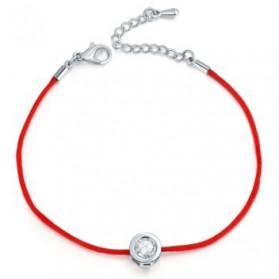 Gelang Elegant dengan Mata Cubic Zirconia 6mm - White/Red