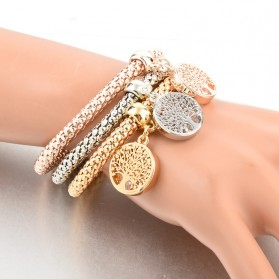 Gelang Wanita Tree of Life 3PCS - Multi-Color