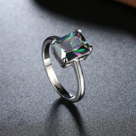 Cincin Wanita Zircon Jewel Size 7 - Silver - 6